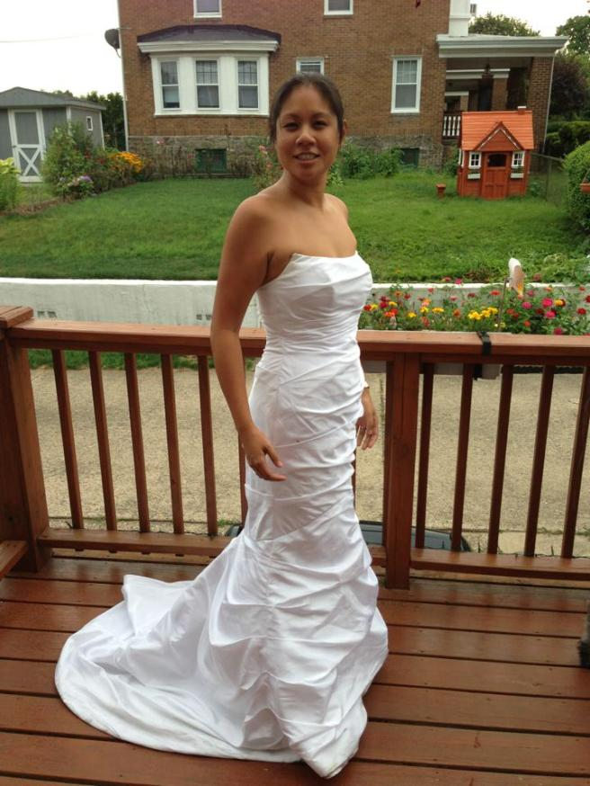 1 week T25 wedding dress